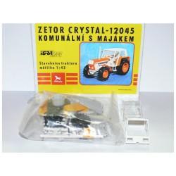 Traktor Zetor Crystal 12045 - IGRA Model Toys - Komunální oranžový s majákem