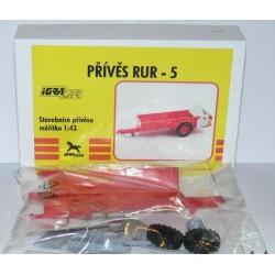 Přívěs RUR - IGRA Model Toys - červený